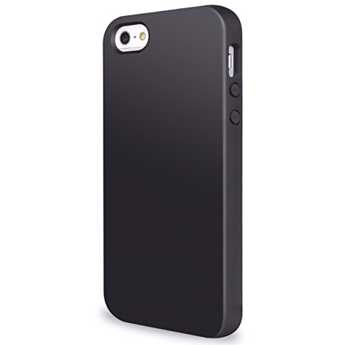 Ailun Phone Case Compatible with iPhone 5s iPhone SE iPhone 5 Shock Absorption Bumper Anti Scratch Fingerprint Oil Stain Shell Soft Dual Color TPU Back Cover Pureblack