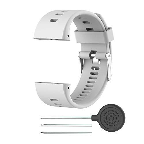 RYRA Correas de silicona para reloj compatibles con Polar V800, goma ajustable de repuesto para pulsera deportiva y seguimiento de actividad física para hombres y mujeres