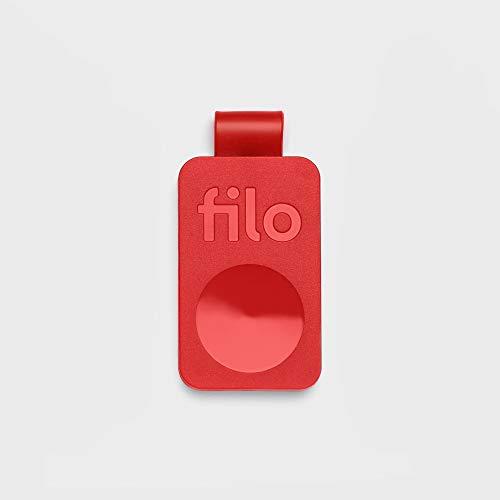 FiloTag Keyfinder 2021 | Localizzatore di Oggetti tramite App. Tracker Bluetooth LE | Ritrova gli Oggetti che Hai Perso | Colore Rosso. Misure: 25x41x5mm | Pack da 1