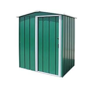 Duramax ECO Metal Shed 5 x 4 Galvanized Green