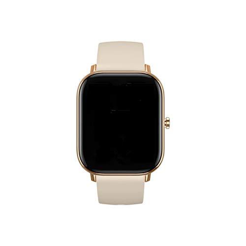 YONGLI IP67 Salud Carto Cardíaco Monitoreo De La Presión Arterial Entrenamiento Físico Recordatorio Sedentario SmartBand GTS Smart Watch Llamada Bluetooth (Color : Gold)