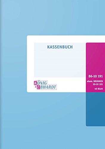 König & Ebhardt 8610191 Geschäftsbuch / Kassenbuch (A5, Einnahmen/Ausgaben, 80g/m², 40 Blatt Drahtheftung)