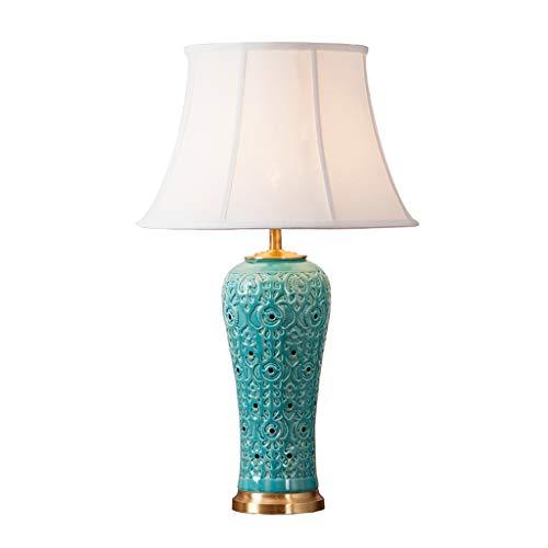 Lampe de table en céramique bleue salon lampe de table de chevet chambre