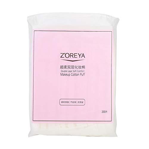 Toallitas de cara de tela desechables, mojadas, secas, de limpieza, cosméticos, maquillaje facial, papel de eliminación de color rosa, 200 unidades