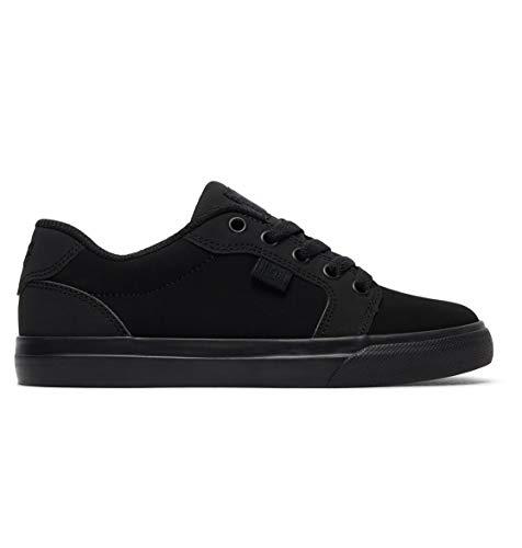 DC Youth Anvil Skate Shoe Big, Black/Black, 13 M US Little Kid