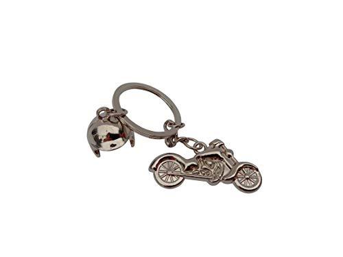 -Homeworld- Motorrad Schlüsselanhänger Chopper und Helm, Harley, Geschenk für Männer