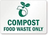 堆肥食品廃棄物のみ(堆肥シンボル付き)、金属(リサイクルおよび堆肥化可能)記号、金属記号
