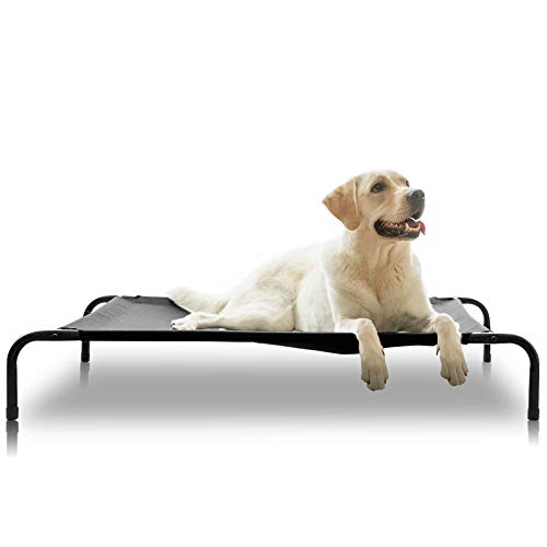 ANWA Elevated Dog Cot Bed, Outdoor Dog Bed Large Dogs, Durable Dog Raised Bed 48 INCH