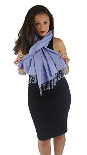 Scarf/Shawl/Wrap/Stole/Pashmina Shawl in solid color from Cashmere Pashmina Group (Periwinkle)