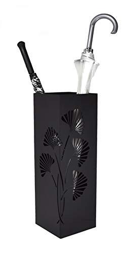 Mango Steam Tall Ginkgo Leaf Umbrella Holder (Black)