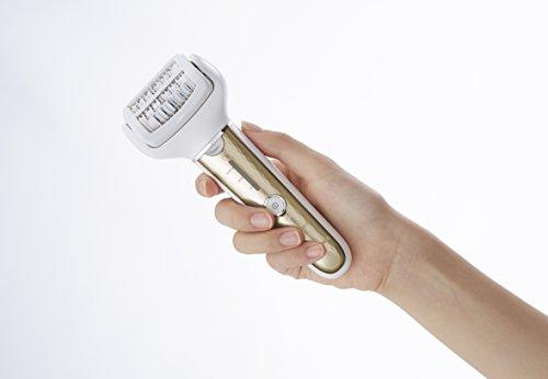 Panasonic ES-EL3A-N503 - Depiladora Eléctrica para Mujer (Wet&Dry, 60 pinzas, Inalámbrica, Luz LED, Resistente al Agua, 3 Niveles de Velocidad, Cabezal Flexible, Accesorio Depilación Brazos) Dorado
