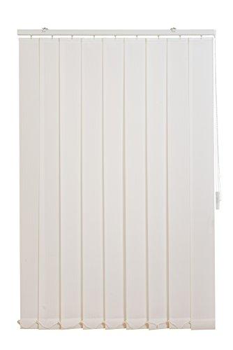 sunlines Vertikaler Lamellenvorhang Fixmaß, Stoff, weiß, 150 cm x 150 cm