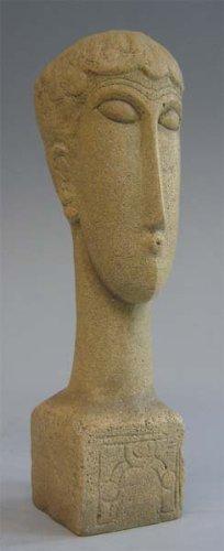 Modigliani Kopf mit Inschrift - Museumsshop (Replikat) #08 nach Amedeo Modigliani
