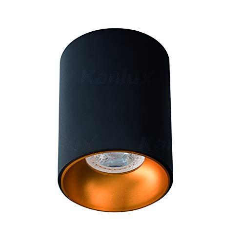 RITI, faretto da soffitto spot LED moderno Riti nero-oro.