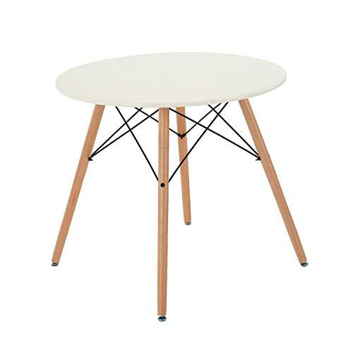 Gran Shopping Mesa Redonda Eames Circular Desayunador Moderno Minimalista - Blanco