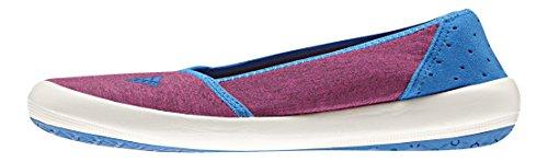 adidas Damen Boat Slip-On Sleek Fitnessschuhe, Weiß/Blau (Rubsup Blatiz Azuimp), 38 EU