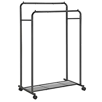 double rail garment rack