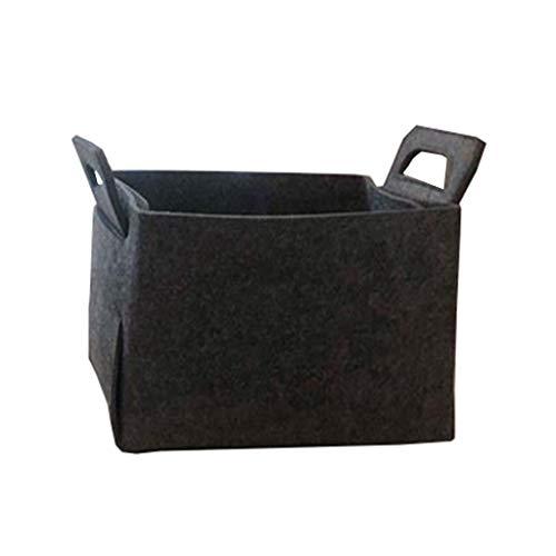 Lvmiao Felt Storage Bag Basket, strorage Feltro Sacchetto dell'organizzatore del Sacchetto, cosmetico di immagazzinaggio Sacchetto di Trucco organizzatori,Grigio,L