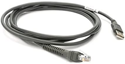 Motorola Symbol Zebra Barcode Scanners Compatible: USB Communication Cable Replacement, 7 Ft, Plug and Play