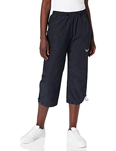 Trigema Damen 3/4 Freizeithose Shorts Sportifs, Bleu (Blau 046), 40 (Taille Fabricant: M) Femme