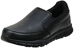 in budget affordable Skechers for Work Nampa-Groton Men's Catering Shoes, Black PU, 10.5 M US
