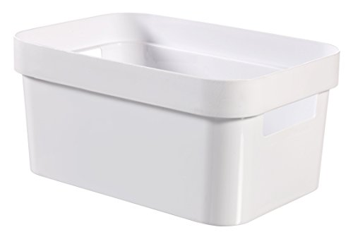 Curver 3253924748023 Infinity Aufbewahrungsbox 4,5 L, Plastik, weiß, 26 x 18 x 12 cm