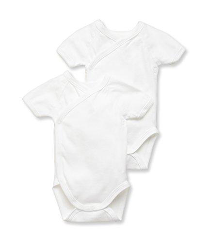 Petit Bateau 15090 Body, Blanc (Special Lot 00), 0-3 Mois (Taille Fabricant: 3M) 2 Mixte bébé