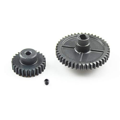 elegantstunning Mettre à Niveau la Vitesse du Moteur à Engrenages de réduction en métal pour Les pièces de Voiture WL-Toys 144001 1/14 RC