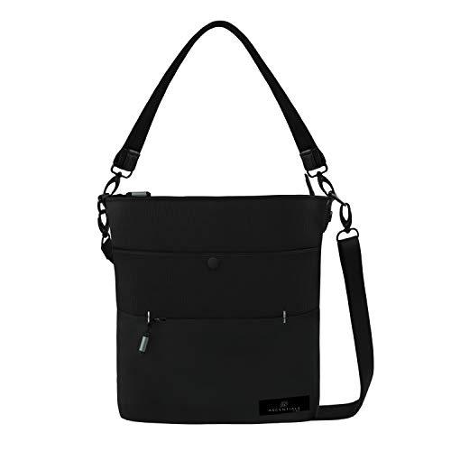 Ascentials Pro Emerson, Nylon Messenger Bag, Water Resistant Shoulder Bag, Crossbody Bag for Men and Women, 5 Liters (Carbon)