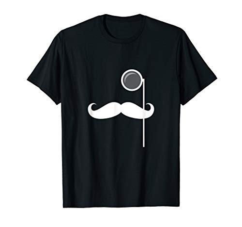 Monocle Mustache Dapper Gentleman (white) T-Shirt