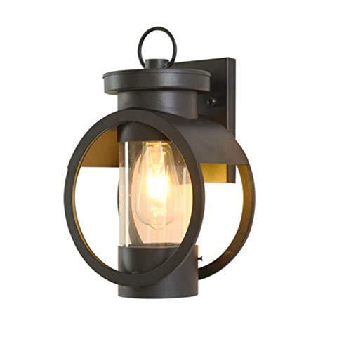 Rindasr buitenwandlamp, tuinverlichting, buitenverlichting, LED-wandlamp, voor binnen en buiten, balkonverlichting, deurverlichting, waterdicht, eenvoudige wandlamp