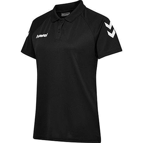 hummel Polo Funcional para Mujer Core, Mujer, Camisa, 203448-2001, Negro, Extra-Small