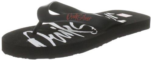 Quiksilver KKMSL334 - Sandalias de Caucho para Hombre, Color Negro, Talla 44.5