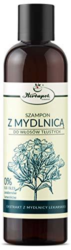 Shampoo für fettiges Haar mit Seifenkraut 250 ml, Herbapol Krakow