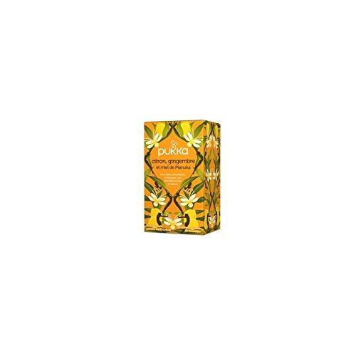 Pukka - Infusion Citron Gingembre & Miel de Manuka BIO - boîte de 20 sachets