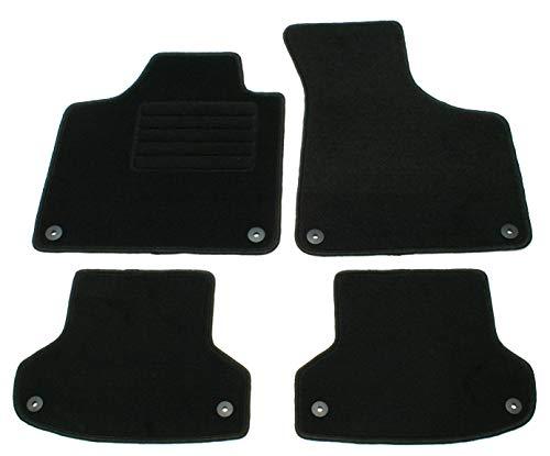 AD Tuning GmbH HG10624 Velours Passform Fußmatten Set Schwarz Autoteppiche Teppiche Carpet Floor mats