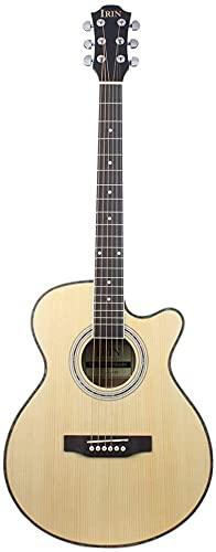 SLZFLSSHPK Guitarra acustica Guitarra Clasica Guitarra CN-D40 Spruce Sapele Missing Angle 40 Pulgadas Perilla Completamente Cerrada