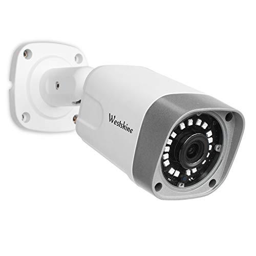 Westshine Cámara IP de Seguridad, 2MP PoE (Power Over Ethernet) IP Bullet Cámara, Nube P2P, Detección de Movimiento, 18pcs IR Leds Visión Nocturna de 20 Metros