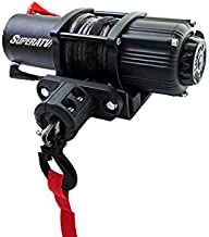 SuperATV Heavy Duty 2500 LB Black Ops UTV/ATV Winch Kit | Includes 50 Ft. Synthetic Rope | 2500 LB. Rated Line Pull | Permanent Magnet DC 12V, 1 HP Motor | Aluminum Hawse Fairlead and More!