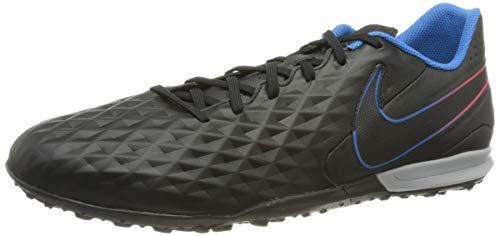 Nike Herren Tiempo Legend 8 Academy Tf Football Shoe, Black Black Siren Red Light Photo Blue Cyber, 42.5 EU