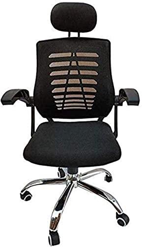 BeingHD Qualitätsbürostuhl, Bürostuhl mit Armlehne Schreibtisch Leder Gaming Bürostuhl Swivel High-Back Ergonomisch/Executive/Mesh Office Chair (Color : Black, Size : 125 * 65cm)