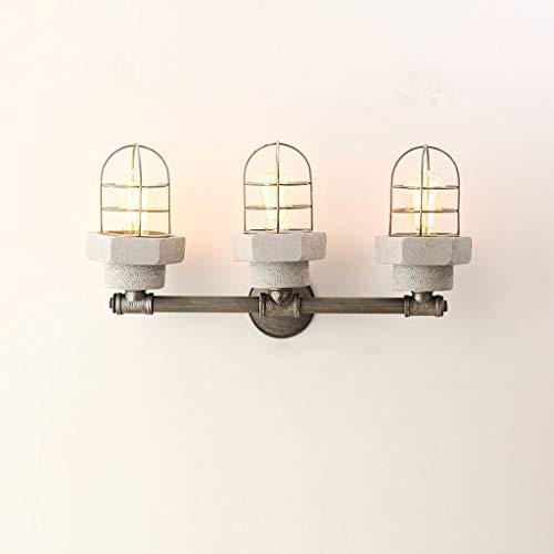 * Postmodern 1 2 3 4 lichten Corridoio Cemento Macaron creatieve wandlamp in Amerikaanse stijl ijzer lampenkap Edison-kabel wandlamp keuken Corridoio ingang ladder