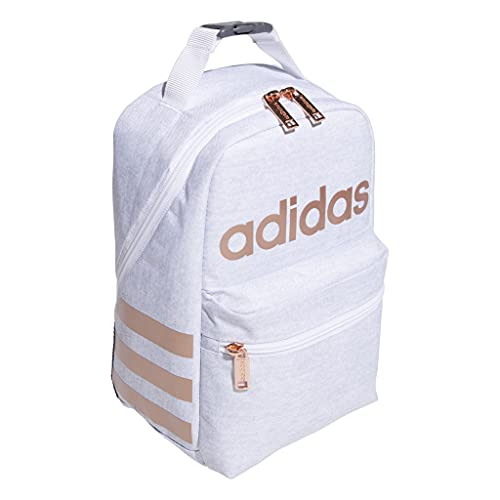 adidas Santiago II Insulated Lunch Bag, White White Rose Gold