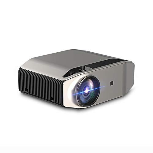 Proyector Full HD 1080P Pantalla 200'', Altavoces estéreo integrados con HDMI/USB, VGA/AV/SD/conector de auriculares para cine en casa o presentación profesional