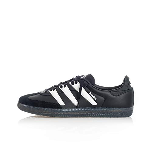 adidas Originals Samba OG, Core Black-Footwear White-Solar Red, 6