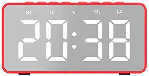 lyq Alarm Klok Wekken Licht Draagbare reizen spiegel display elektronische Pretty Led Leuke Alarm nachtkastje Schattig Alarm met 2 Leuke Alarm thuis moderne decoratieve Bureau en tafel Slaapkamer
