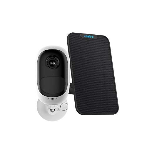 Reolink Telecamera di Sicurezza WiFi Outdoor 1080P Cam Alimentata a Batteria o a Energia Solare, con Allarme Sirena, Audio a 2 Vie, Sensore PIR, con Slot Micro SD Card, Argus PRO con Pannello Solare
