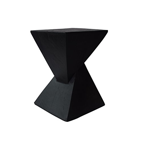 Christopher Knight Home 305826 Jerod Light-Weight Concrete Accent Table, Black
