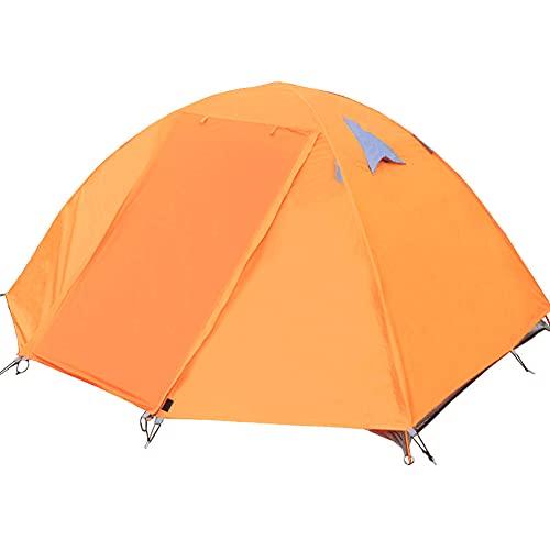 Tienda De Campaña Familiar Tienda De Campaña Para Acampar Al Aire Libre Tienda De Campaña De Doble Poste De Aluminio Doble Playa Protector Solar A Prueba De Lluvia Protección UV Tienda (Color:naranja)