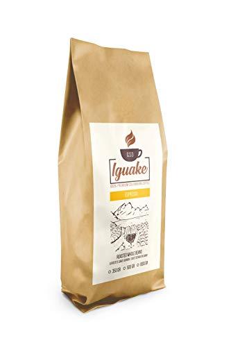 Iguake Coffee Espresso 500gr | Premium Kaffee ganze Bohnen 100% Arabica aus Kolumbien | Familienbetrieb - Single Origin Kaffeebohnen - Nachhaltige Plantage im Hochland - Kräftiges Aroma